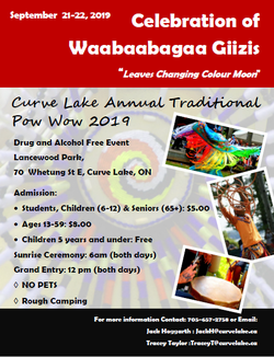 Curve Lake Annual Pow Wow  Sept 21 -22, 2019