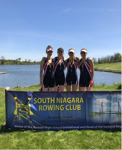 TAS Women's Quad Rowing Team Winning Gold !